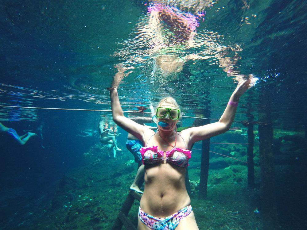 Elena exploring the underwater world.