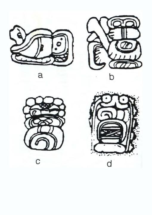 (a) chuc'ah (b) ch'ak (c) hubi (d) star-war From  Ancient Mesoamerican Warfare
