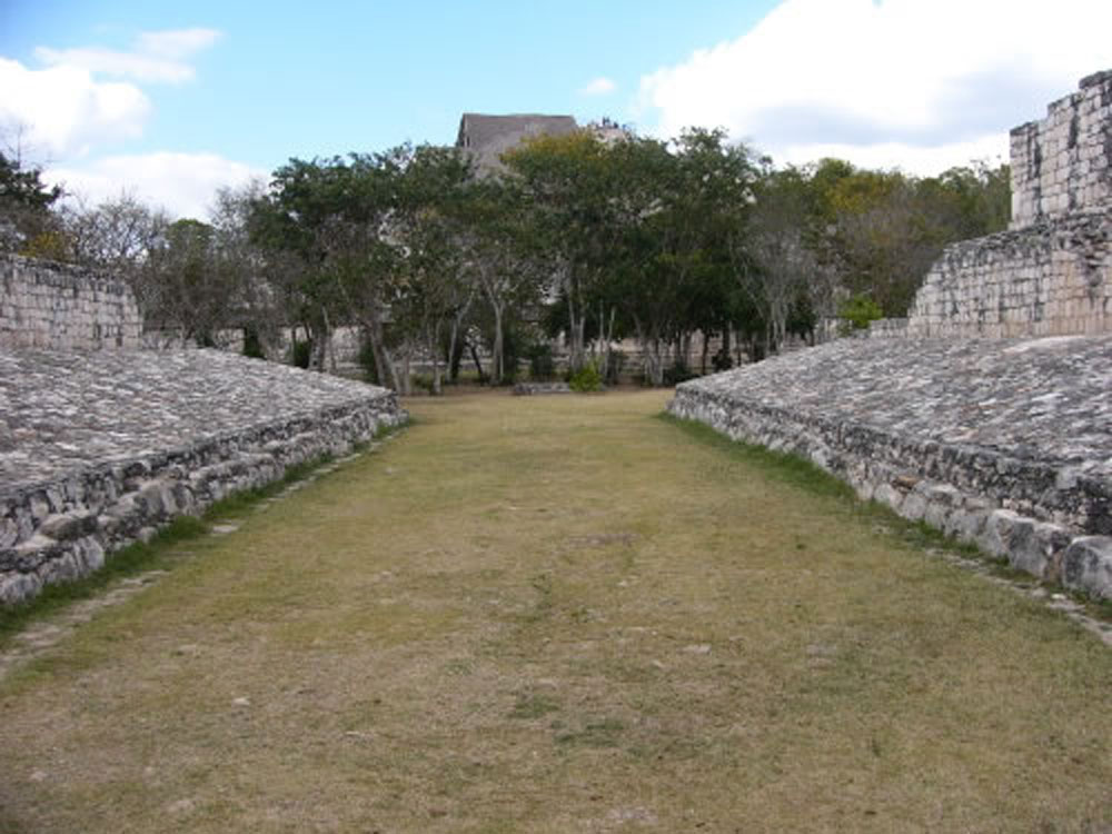 The Ball Court game. The Mesoamerican ball game was not just sport,It was a ritual drama (representing movements of the celestial bodies), and a proxy for warfare  : s  ome ball games were played by kings to resolve bitter disputes between rival cities. The game was also a symbol of regeneration and ended by decapitation of a captain as it was believed that he will be reborn and will bring rain and fertility to the city.