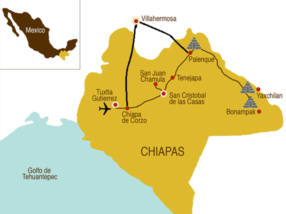 We visited Chiapas from Playa del Carmen for 8 days and this was our route.