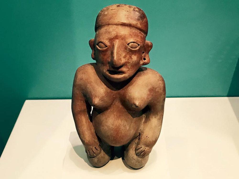 Pregnant ancient woman