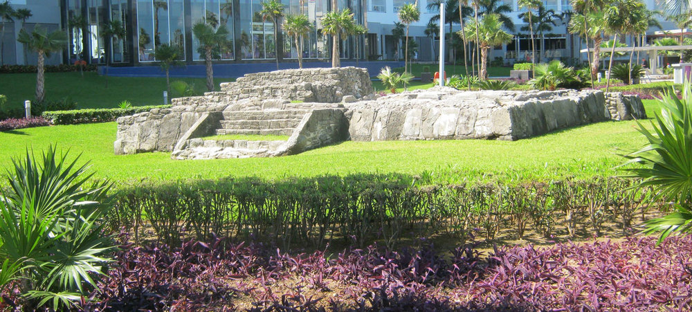 Restored Tacul ruins today in front of Hotel Riu Península