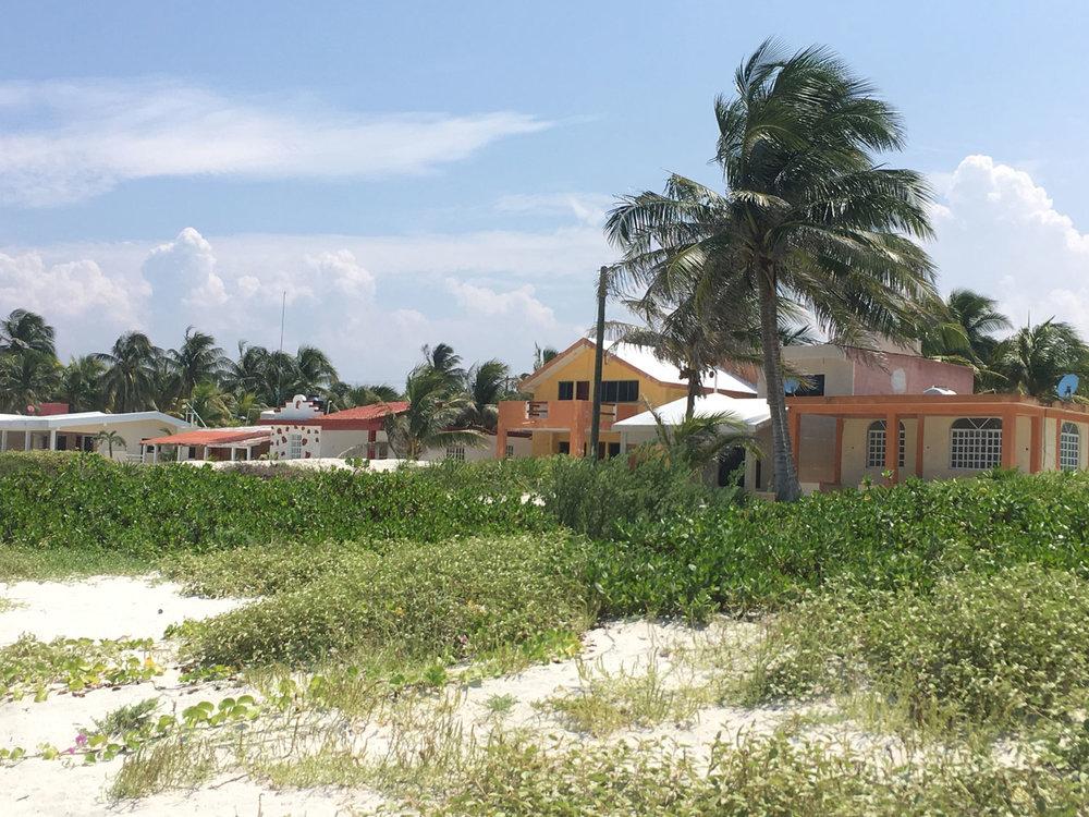 Private villas on the beach.