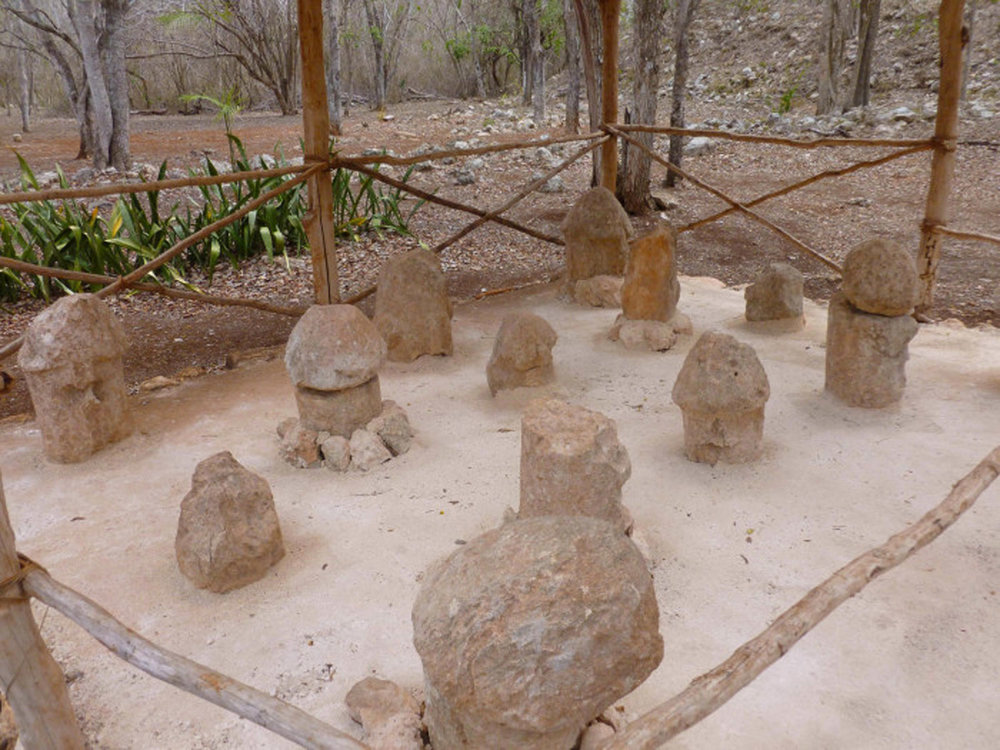 The phallus 'garden', Uxmal