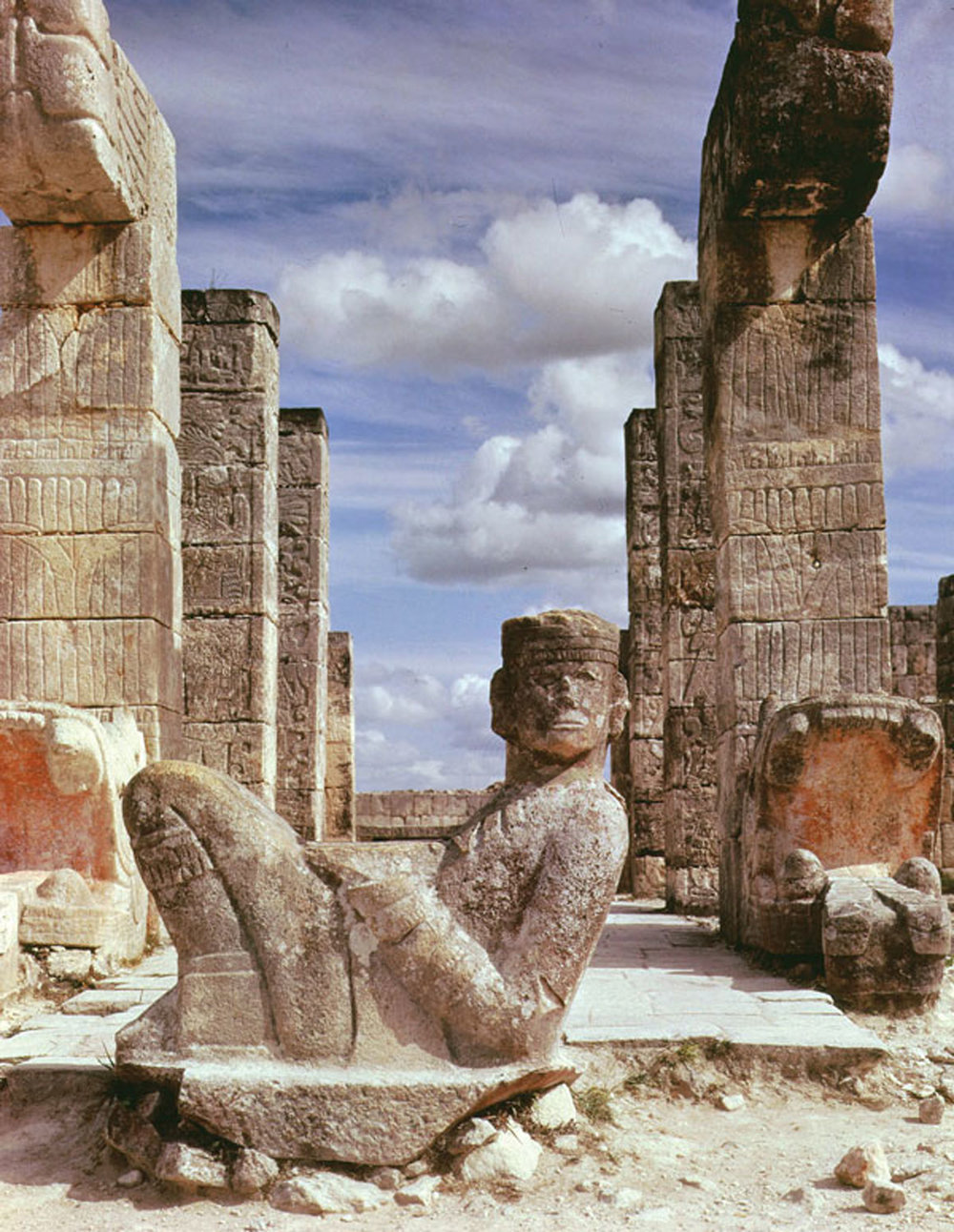 The initiate or Chac Mool, the messenger of the God of Rain, Chac? (Credit: Pinterest)