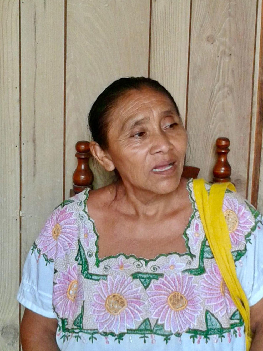 Maria, my friend Lupita's mother, in her traditional Mayan dress.