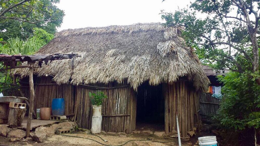 Maria's house in Cobá.