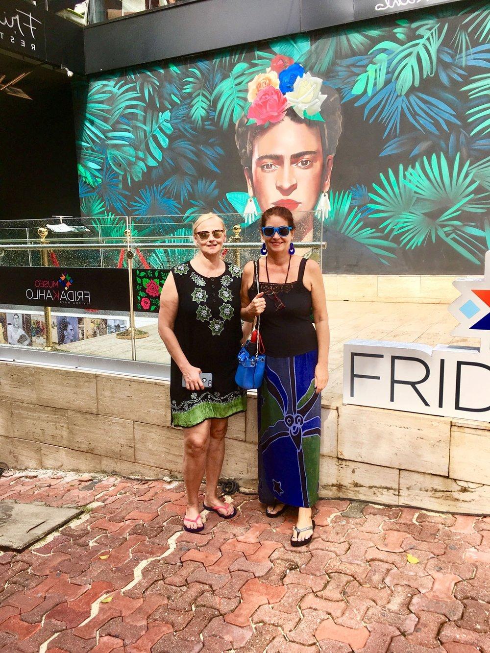 Outside the new Frida Kahlo Museum. Left: A souvenir shop.