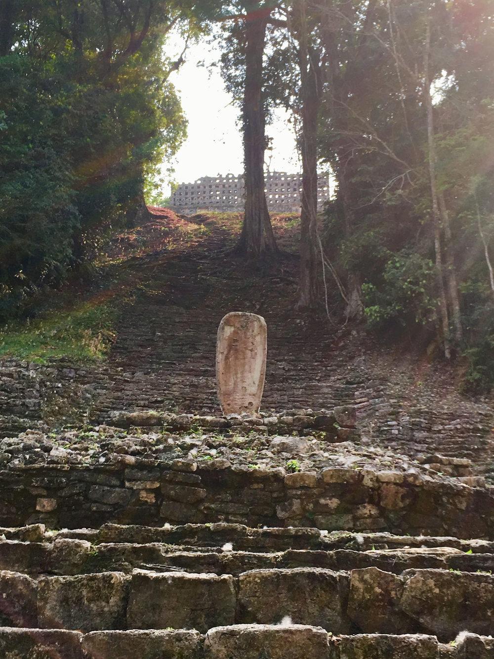 Yaxchilán ruins.