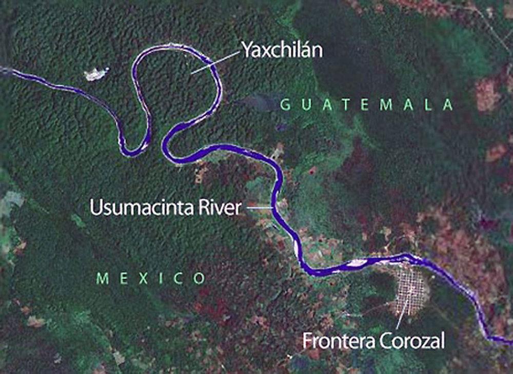 Source:  latinamericanstudies.org . Right:Usumacinta River