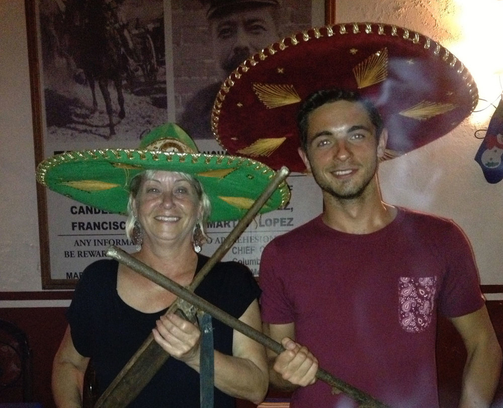 Tequila education night with my son, Valladolid bar, 2013.