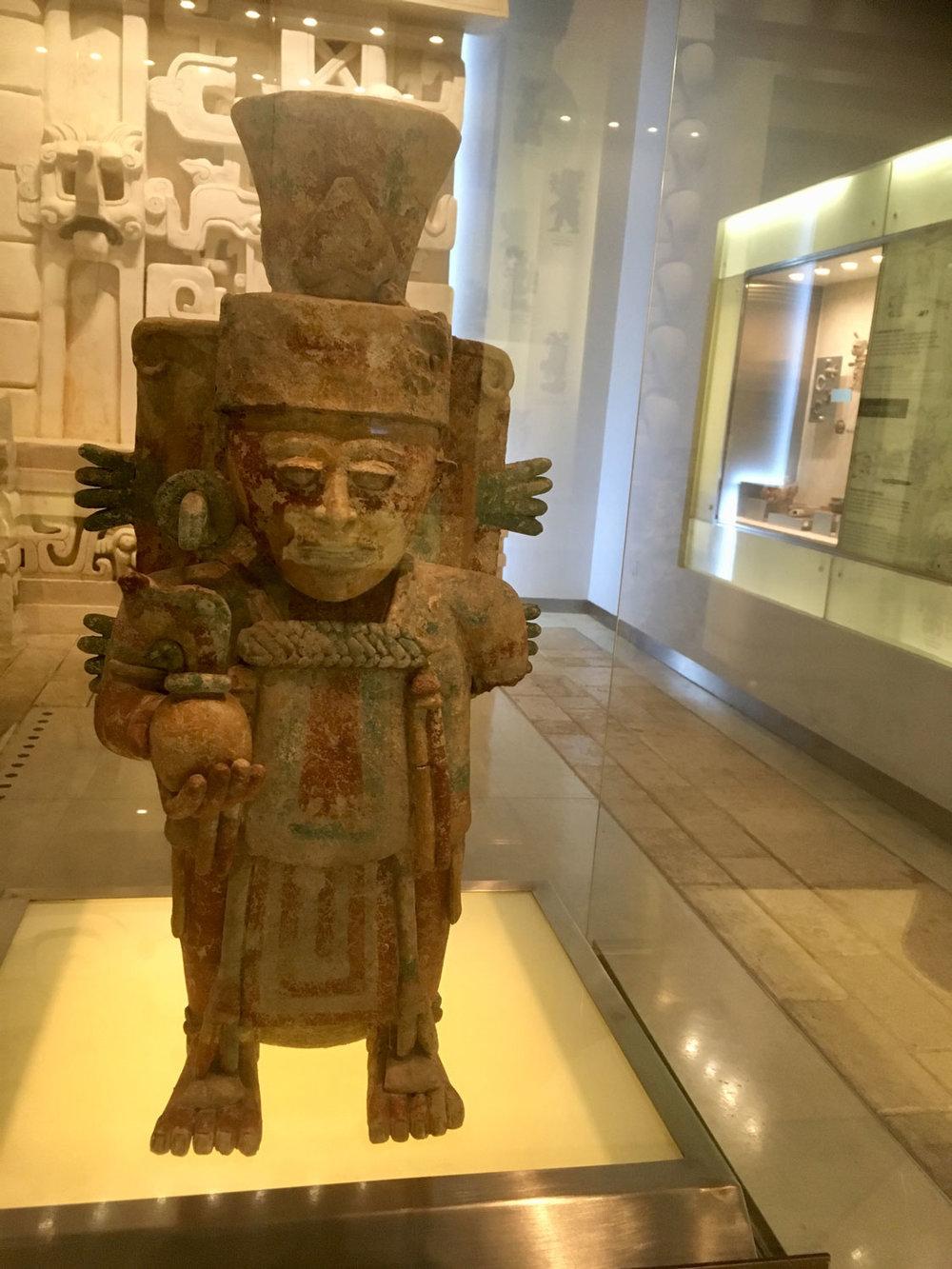 The Maize God (1250-1527 AD), incense burner.