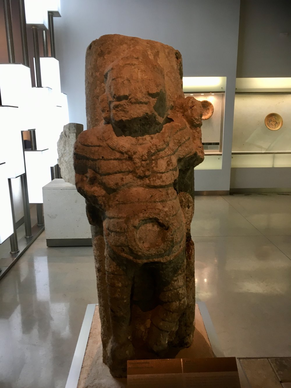 Figure from the Puuc site near Sayil, 900-1000 AD A warrior?