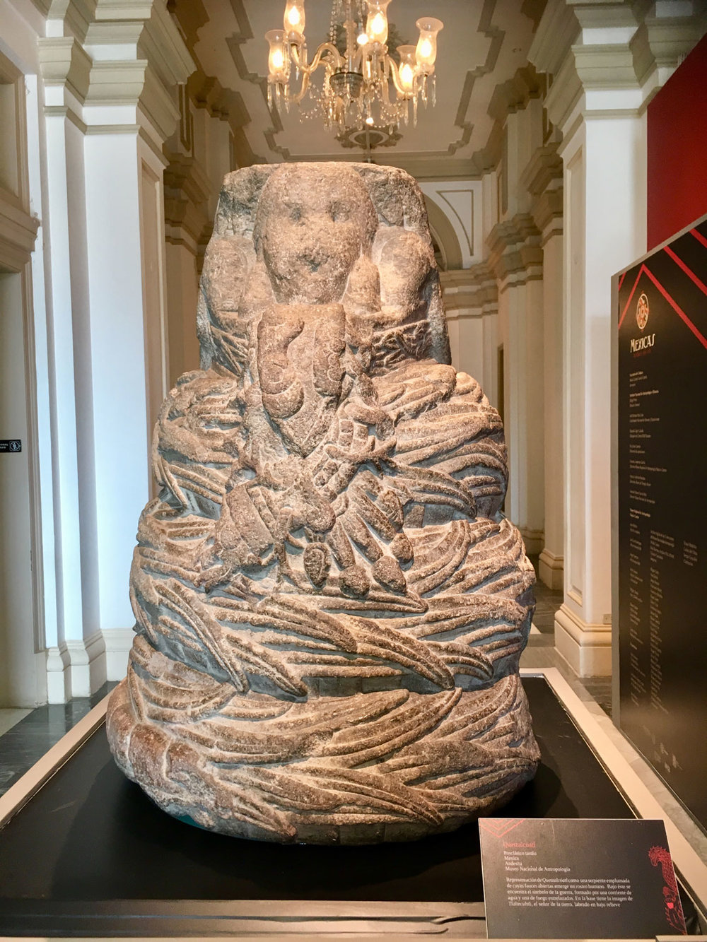 Feathered Serpent as representation of God Quetzalc ó atl.