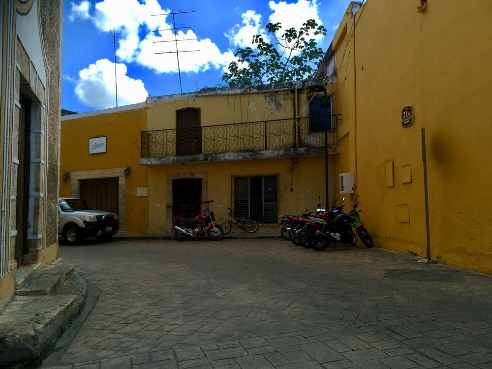 Izamal's yellow streets.