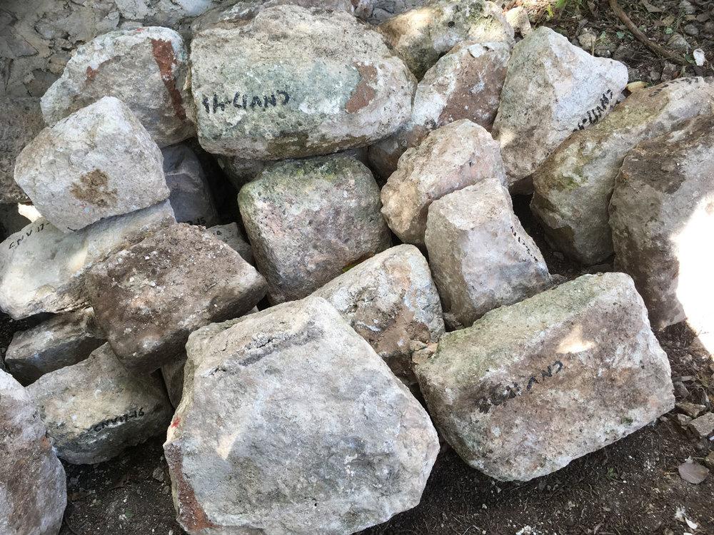 The stones at Itzamatúl pyramid ruin talk of age.