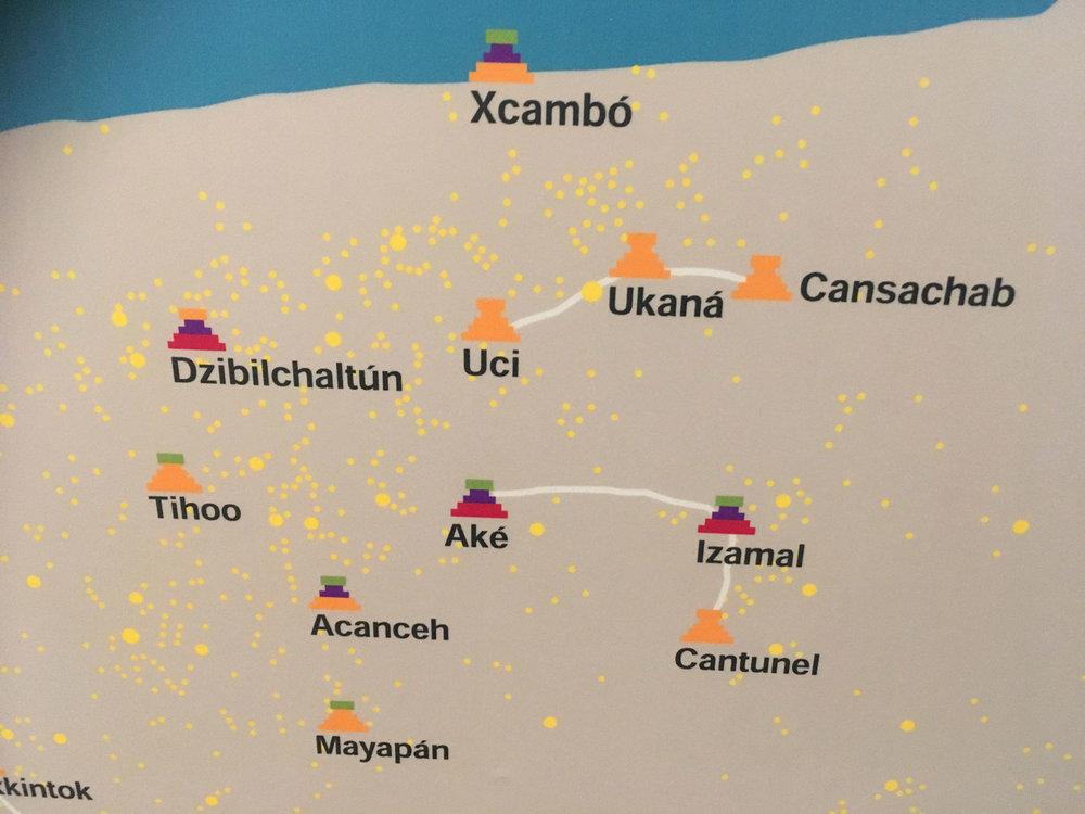 Sacbé road between Izamal, Aké and Kantunil (Cantunel).