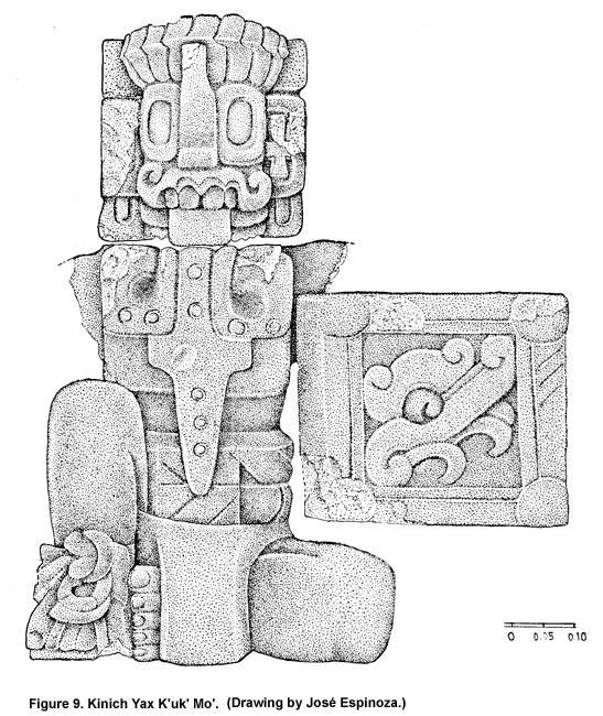 K'inich K'ak Moo, drawing By Jose Espinoza. Source:  famsi.org .