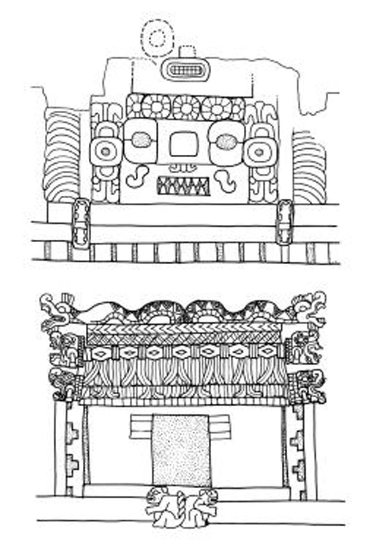 Linda Schele: Masks on the Nunnery Quadrangle. Source:  research.famsi.org .