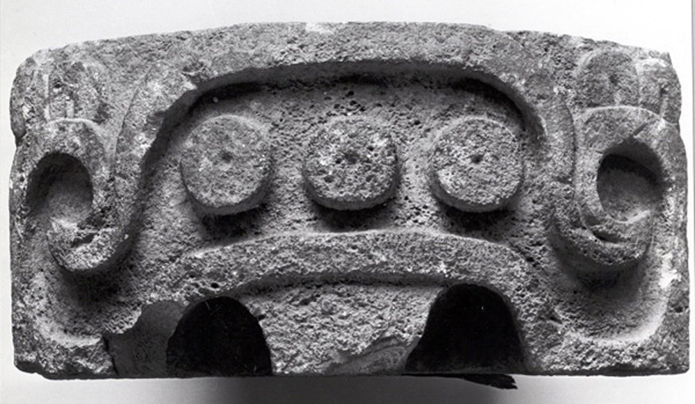 The eyebrow of Witz in detail: an upside-down u-shaped element terminating in volutes. Source: metmuseum.org.