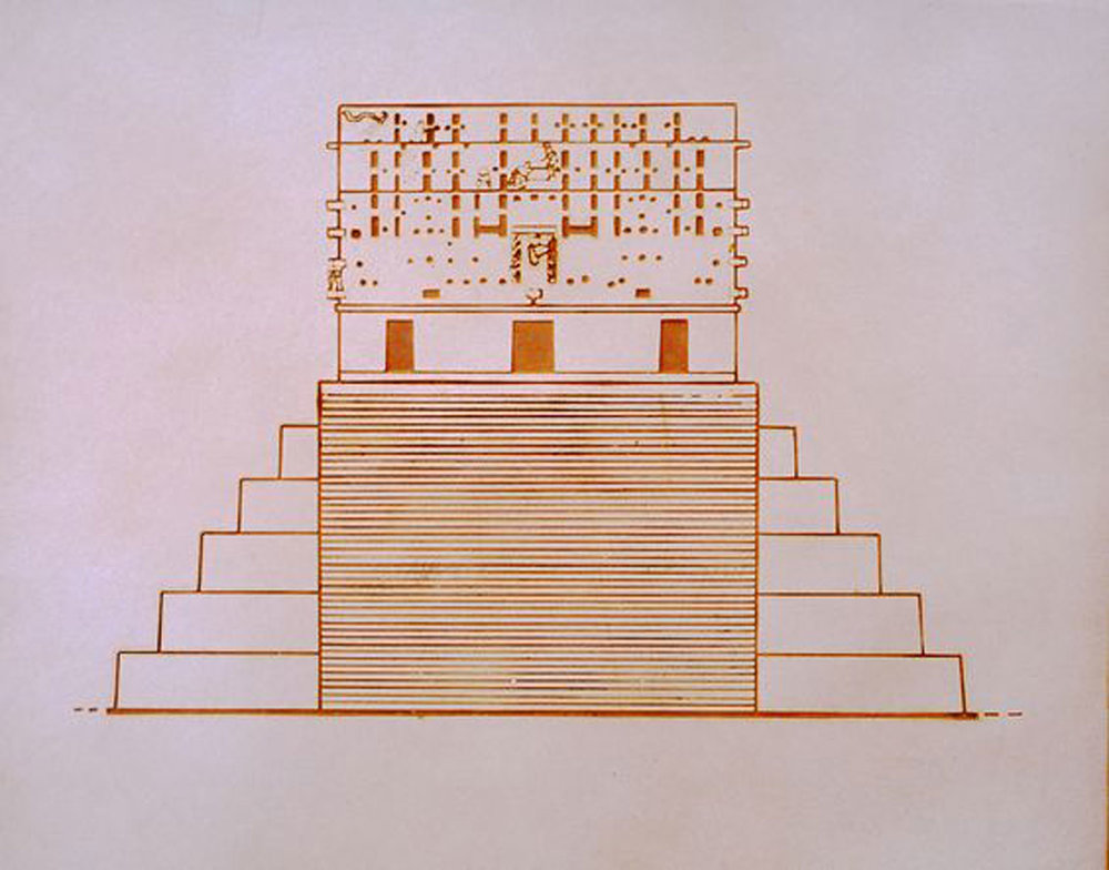 Roofcombs: detail of official INAH plaque. Source:  pinterest.com.mx .
