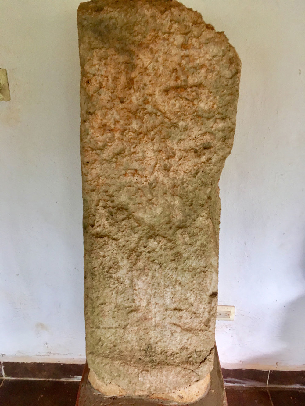 Another stela by the site entrance. A ruler?