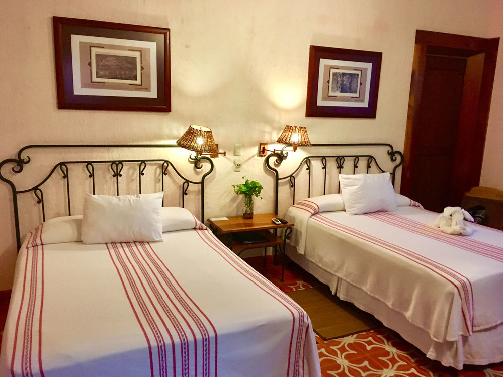Our room in Hacienda Uxmal.
