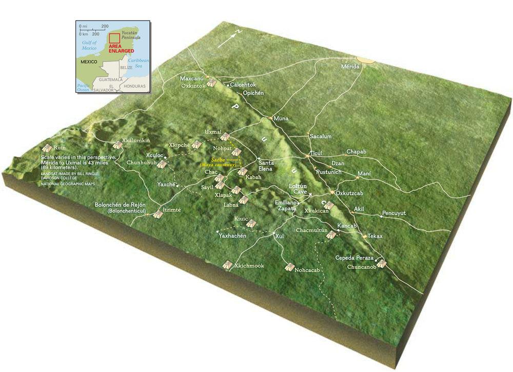 Puuc region map. Source:  latinamericanstudies.org .