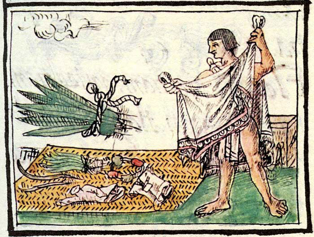 The feather merchant, Florentine Codex Book 10:  pinterest.com .