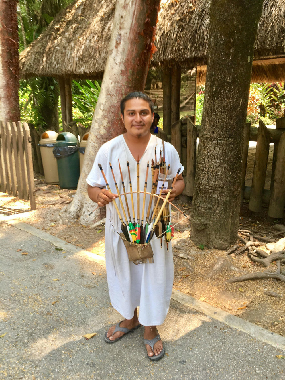 A Lacandón Maya selling traditional bows and arrows at Palenque ruins. He is from the village of Nahá, one of three   Lacandón settlements today.