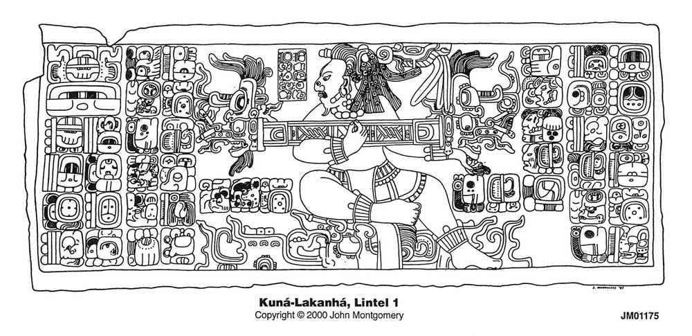 The Lizard King on Kuná-Lacanjá Lintel 1. Source:  research.famsi.org .