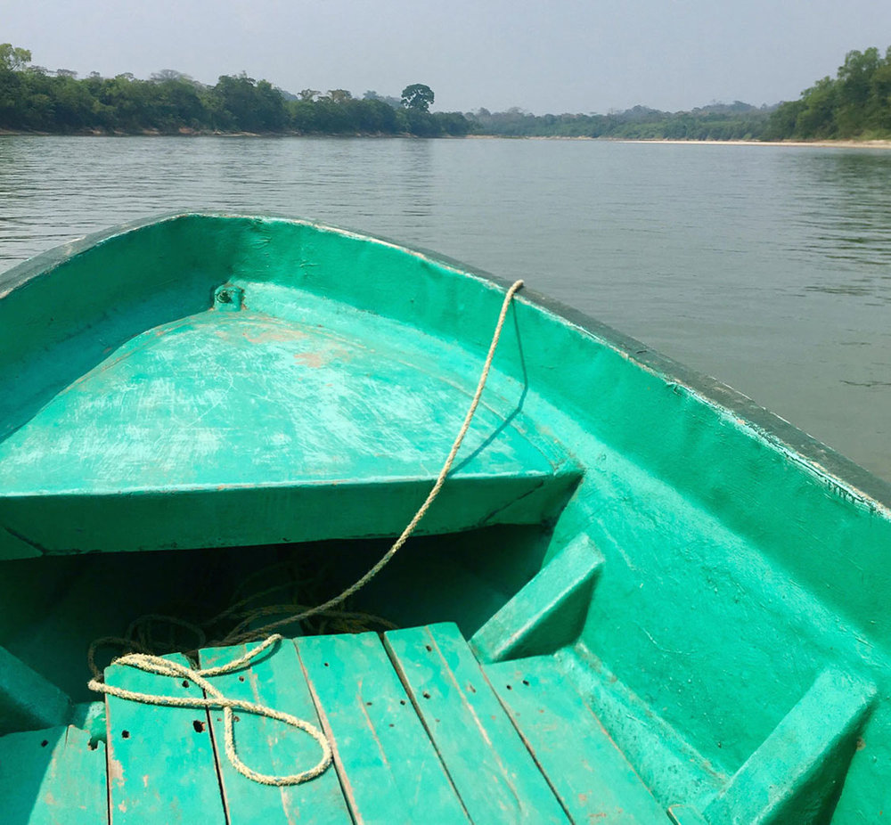 The boat ride along the Usumacinta river to Yaxchilán takes 30 minutes.