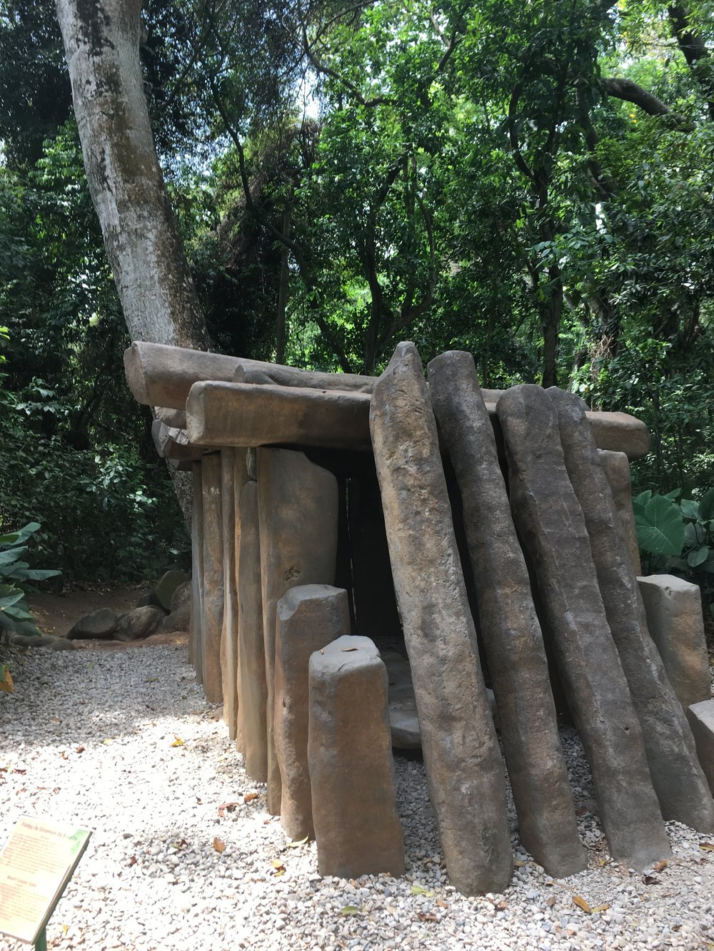 The Olmec burial at La Venta. Left: Altar 5 (back side) at La Venta.