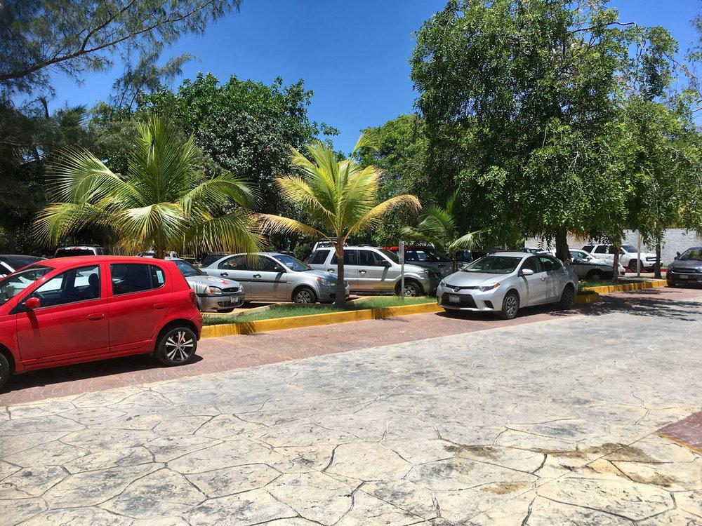Car park area.