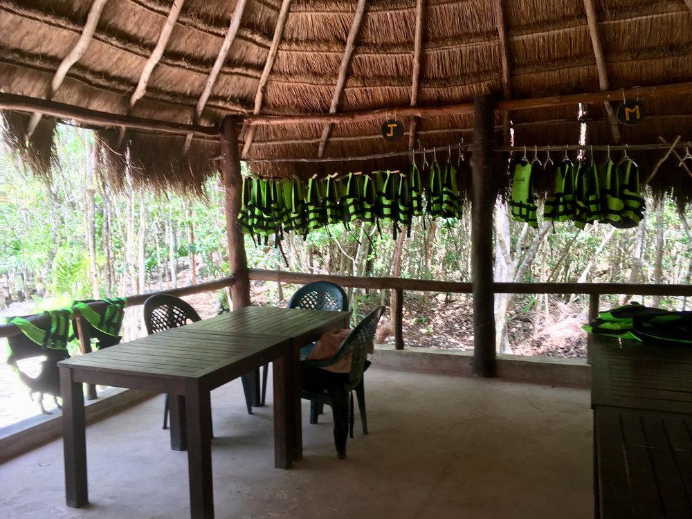 The palapa restaurant.