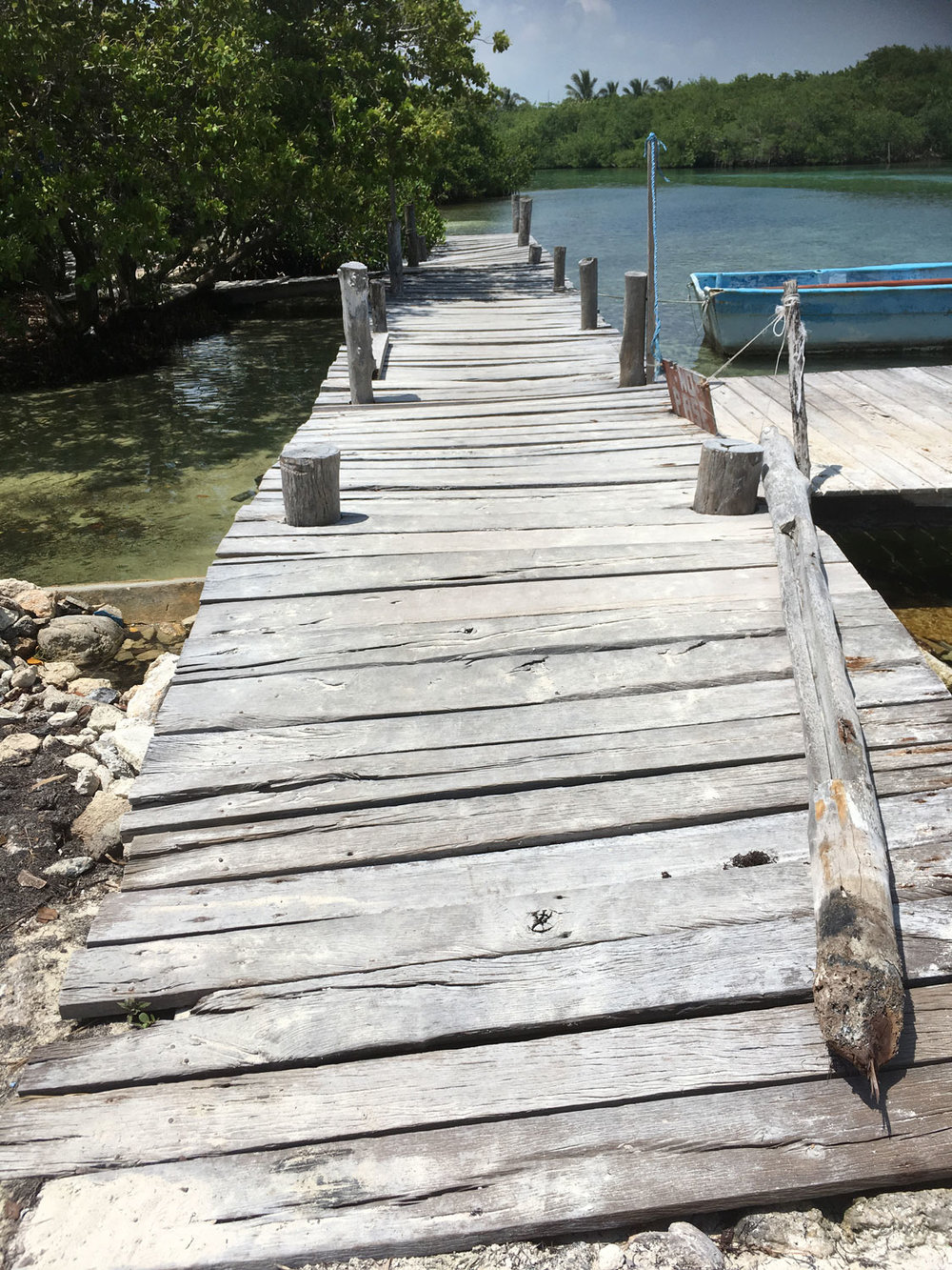 Access pier to the restaurant.