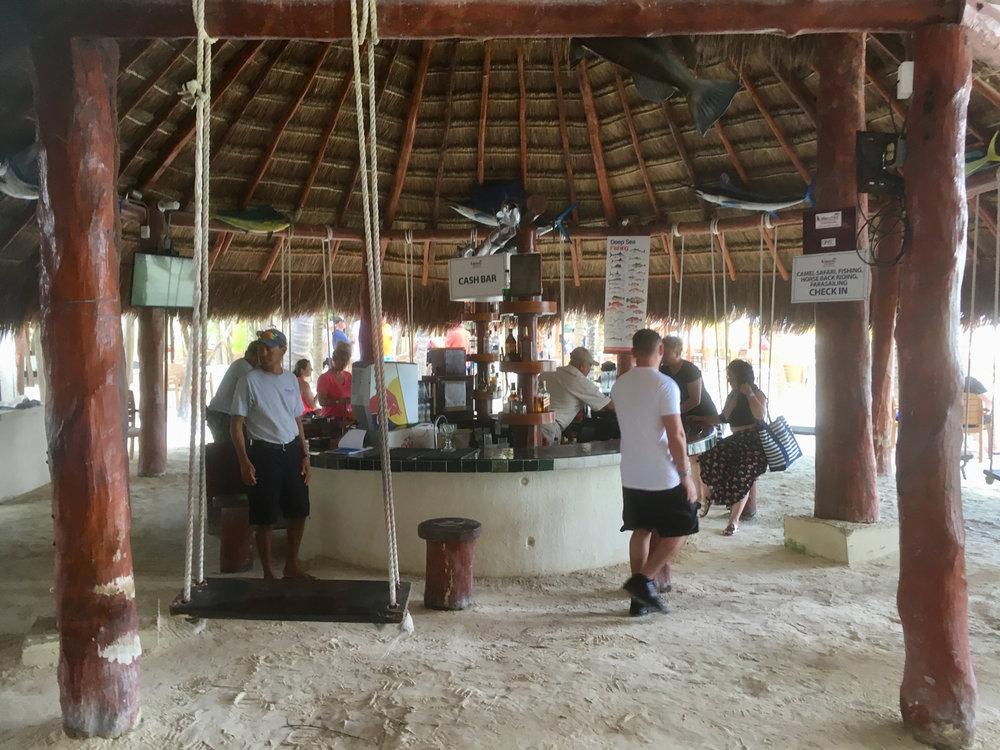 The club bar.