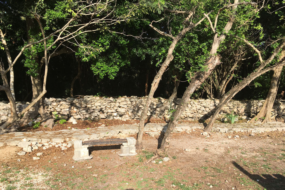 Group G: the ancient wall in Playacar Phase II.
