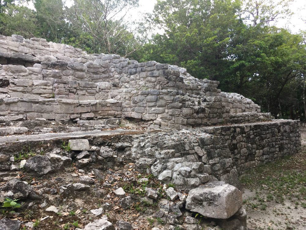 The scattered ancient stones in group C.