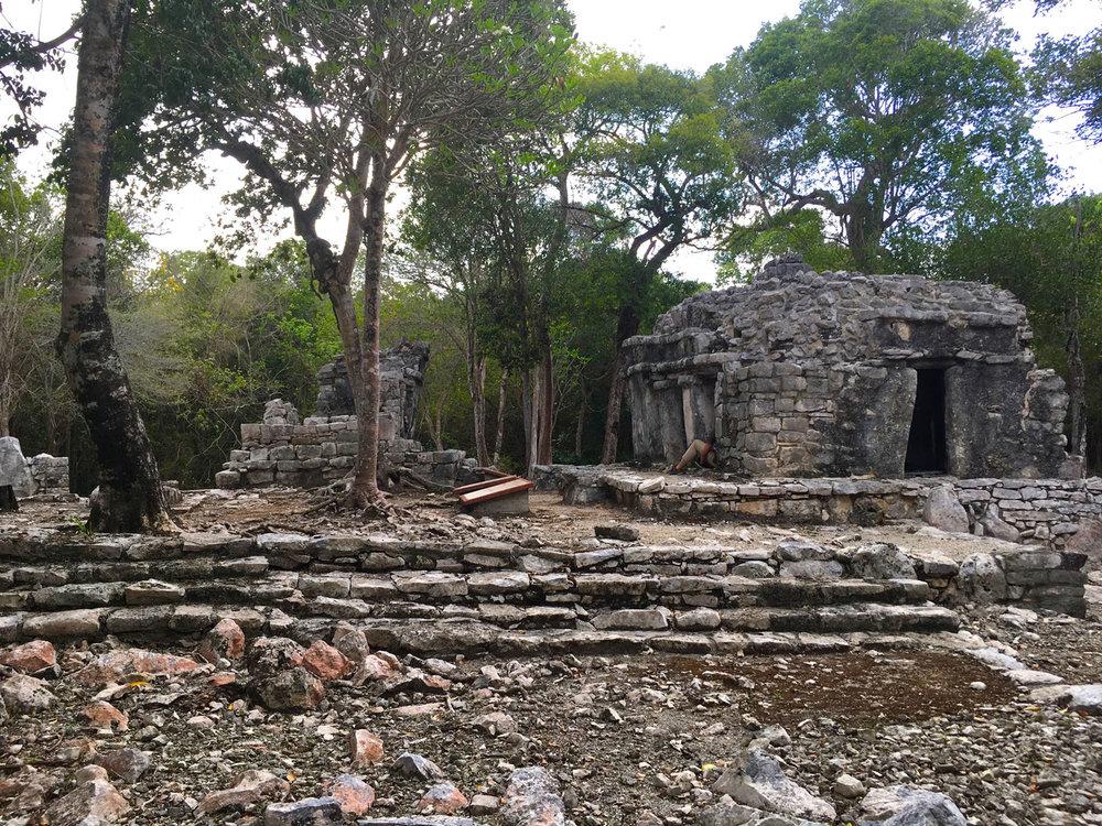 Temazcal and cenote Dos Palmas in a Maya village.