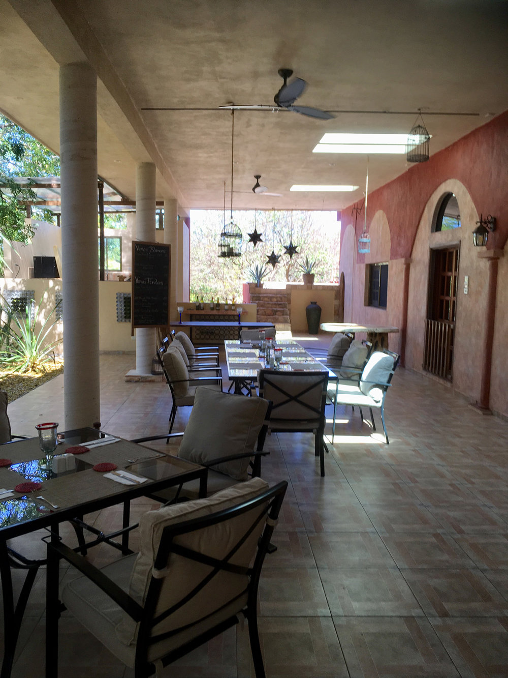 The veranda of Santo Domingo's main house.