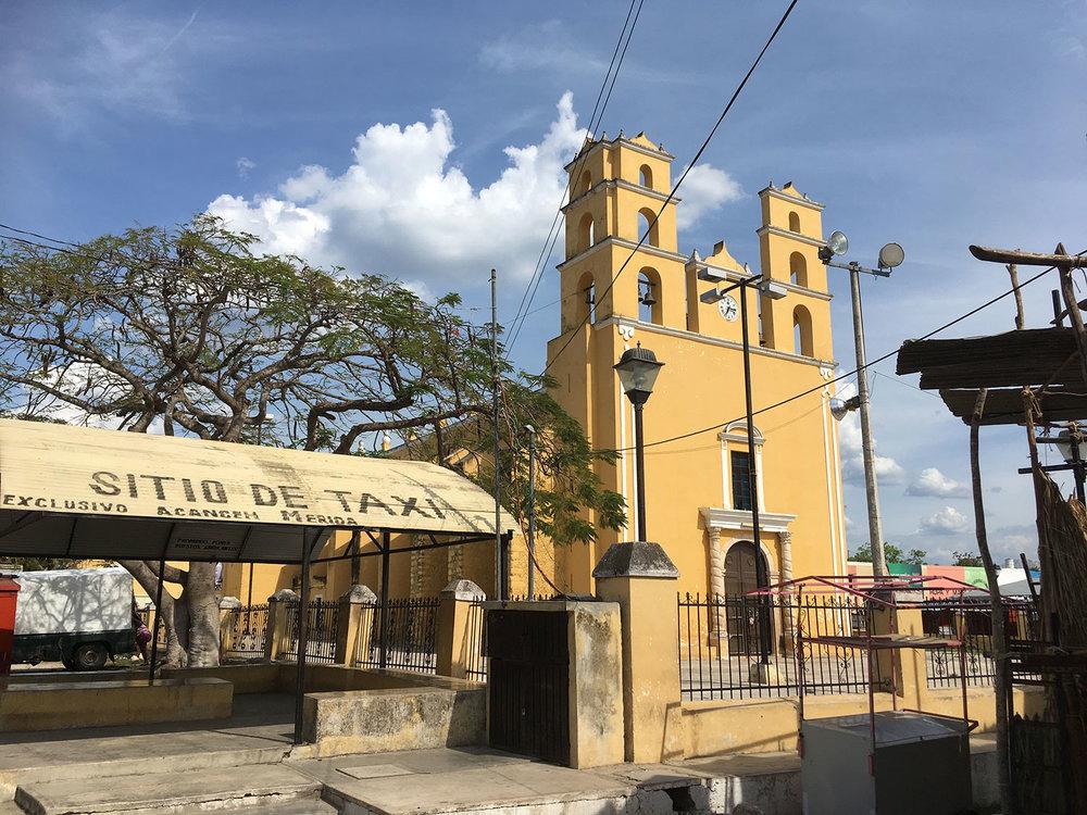 Acanceh church, the Parroquia de Nuestra Senora de la Natividad.