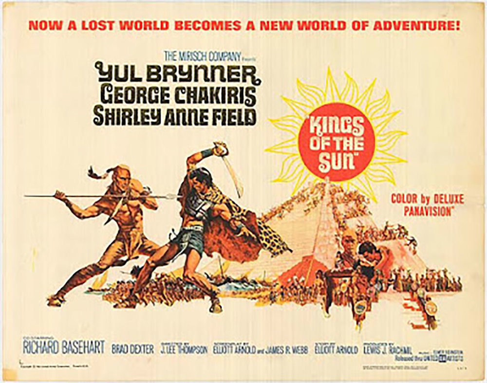 The poster for the film Kings of the Sun. Source:  kinemalogue.blogspot.com .
