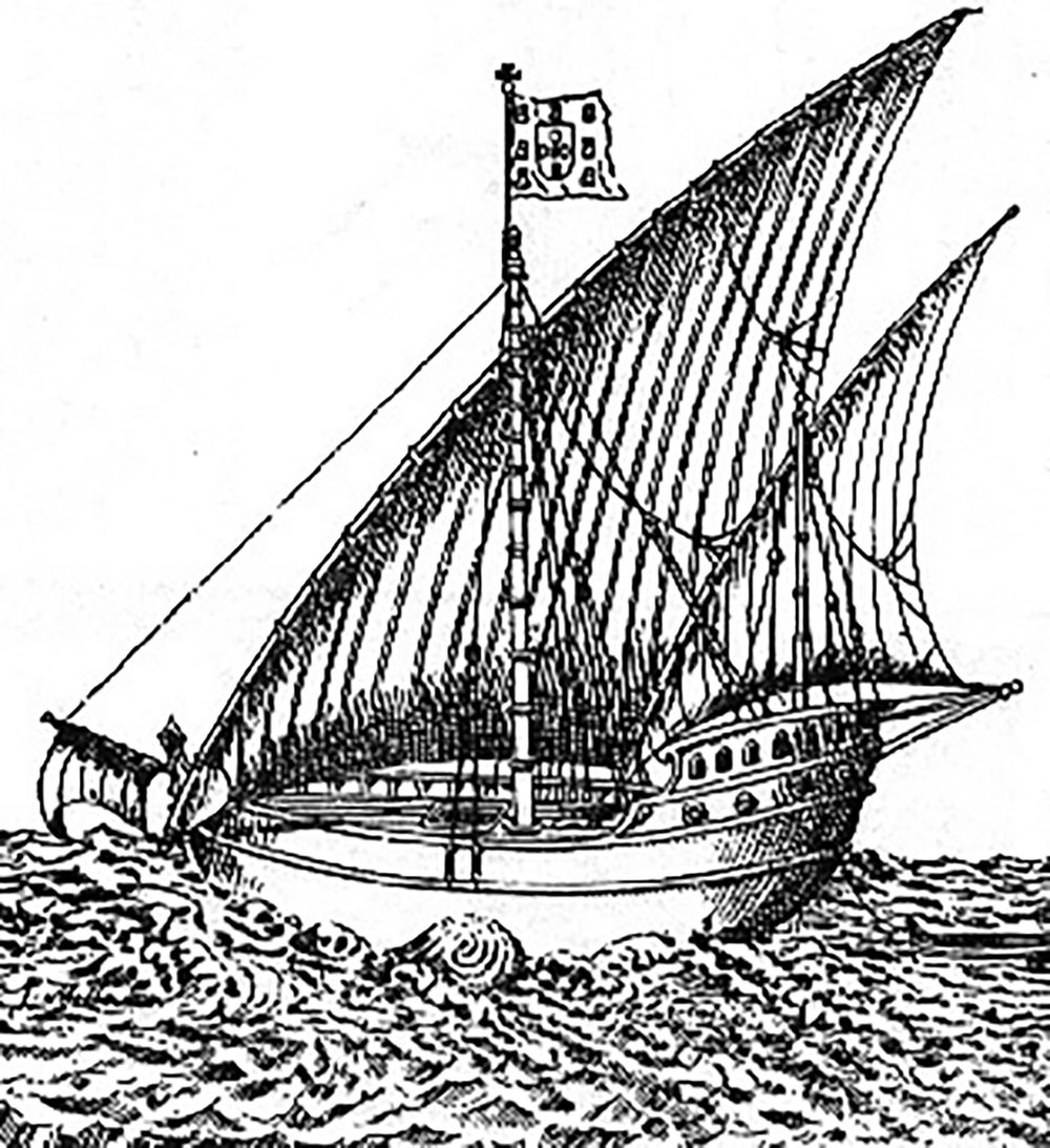 Early 16th century European caravel. Source:  wikipedia.org .