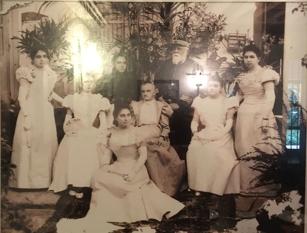 Photos of society at the time of this henequén estate, from the hacienda restaurant.