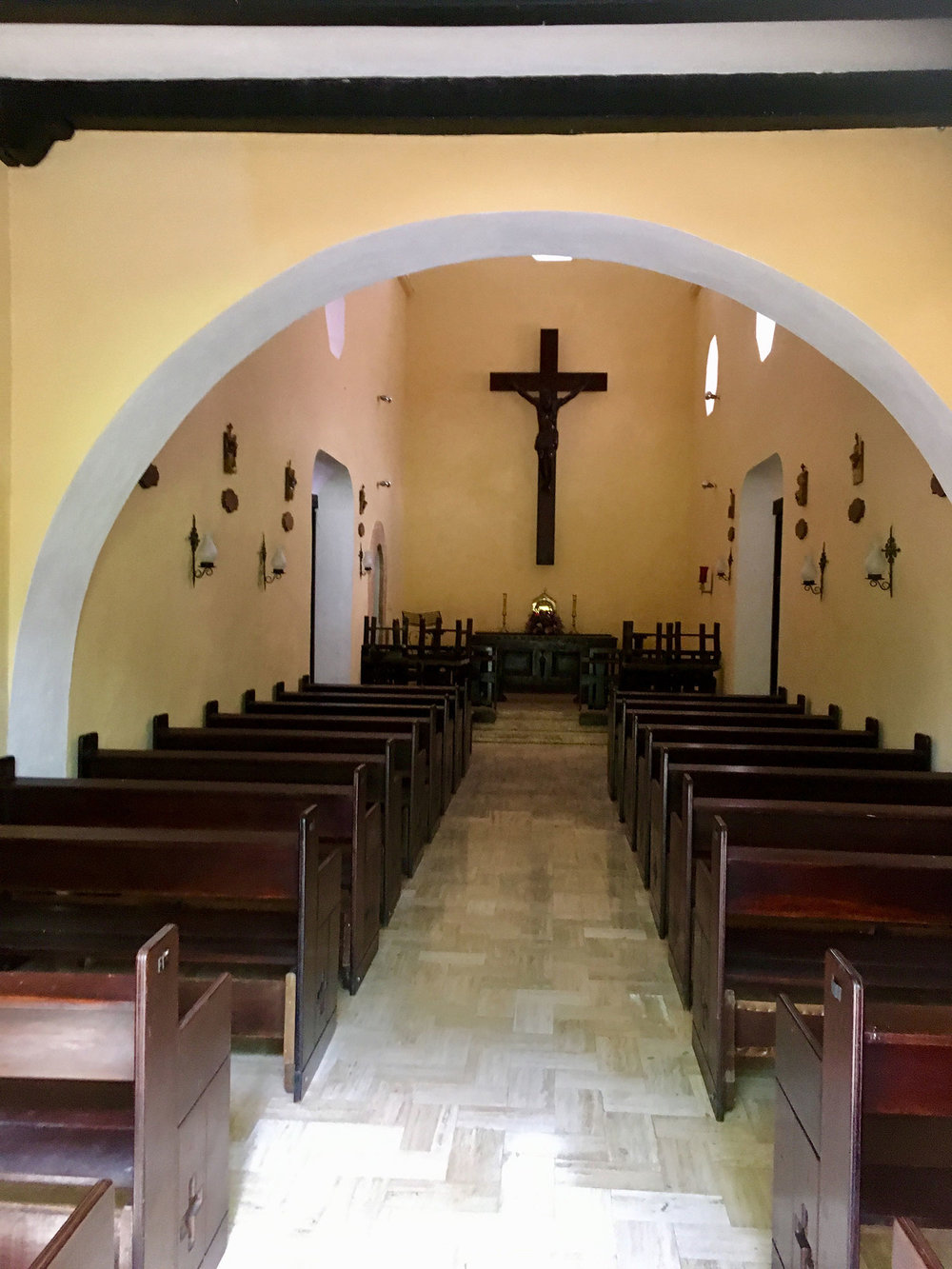 The larger chapel served for the masses for the peón workers.