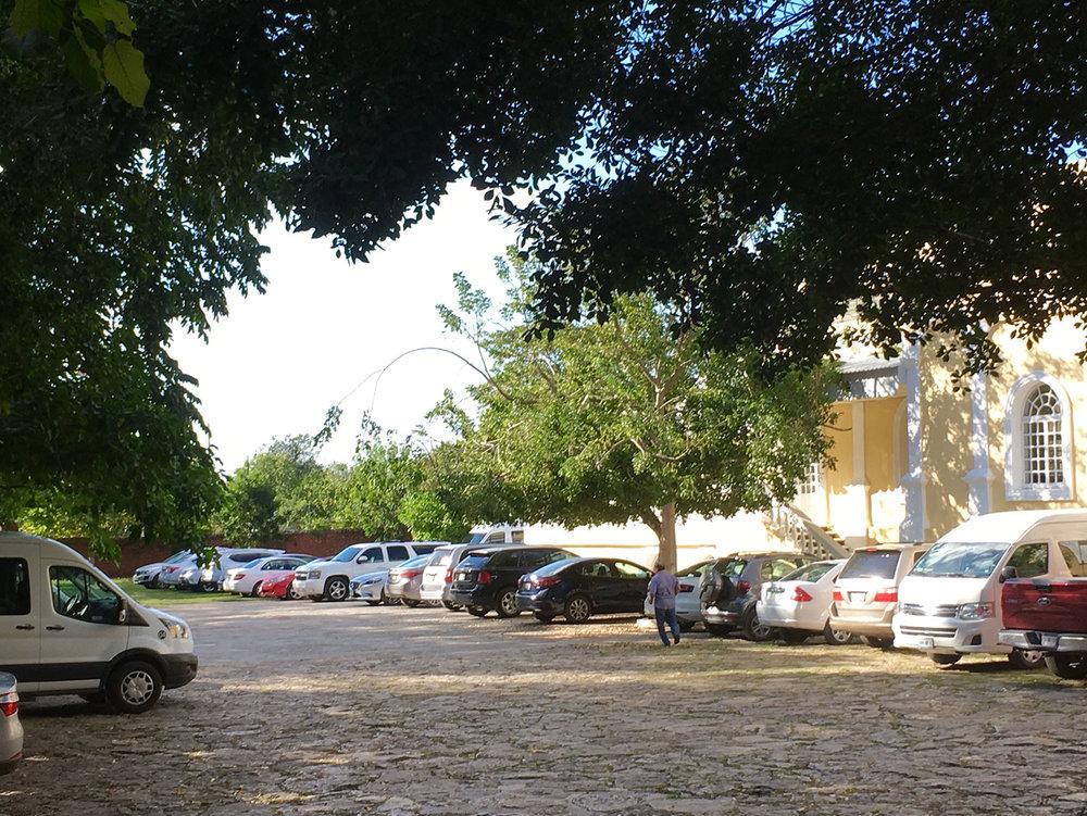 Hacienda car park.