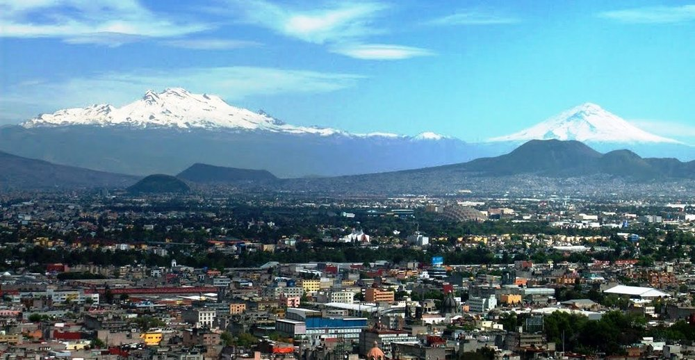 Mountain ranges dominate the landscape of Mexico City in the south:  en.mxcity.mx .