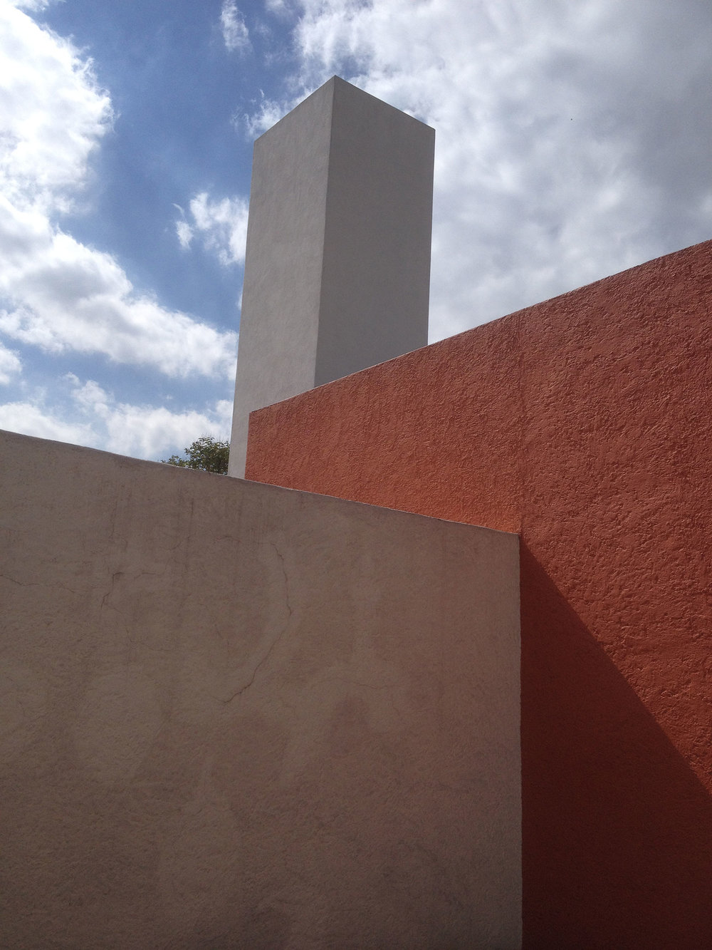 The roof terrace of Luis Barragán's house.