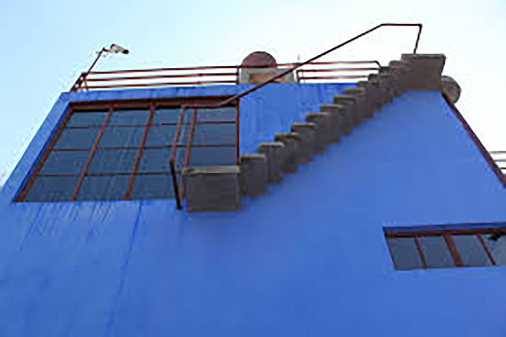 Stairs from Frida's living quarters to the rooftop.